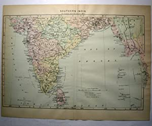 Johnson's Map of Southern India - Original: A. J. Johnson