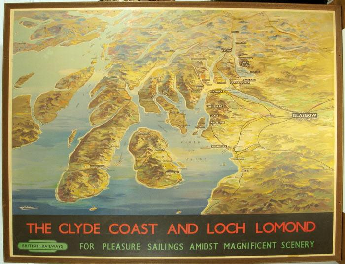 The Clyde Coast and Loch Lomond. British Railways for Pleasure Sailings Amidst Magnificent Scenery....