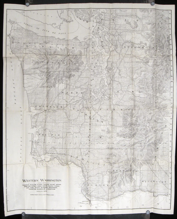 Sectional Land Map of Western Washington Embracing the Pacific Coast ...