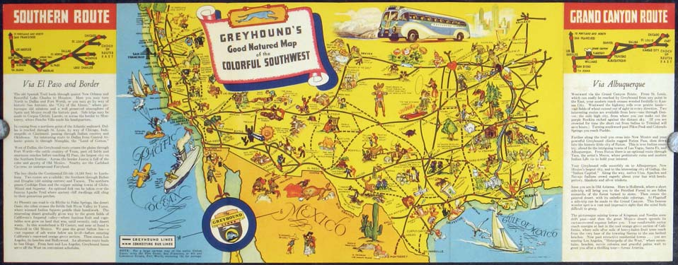 By Greyhound Across America Historic routes ...