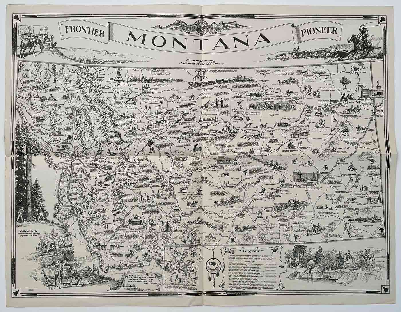 A Map of Montana Whereon is Depicted and Inscribed the Pioneer ...