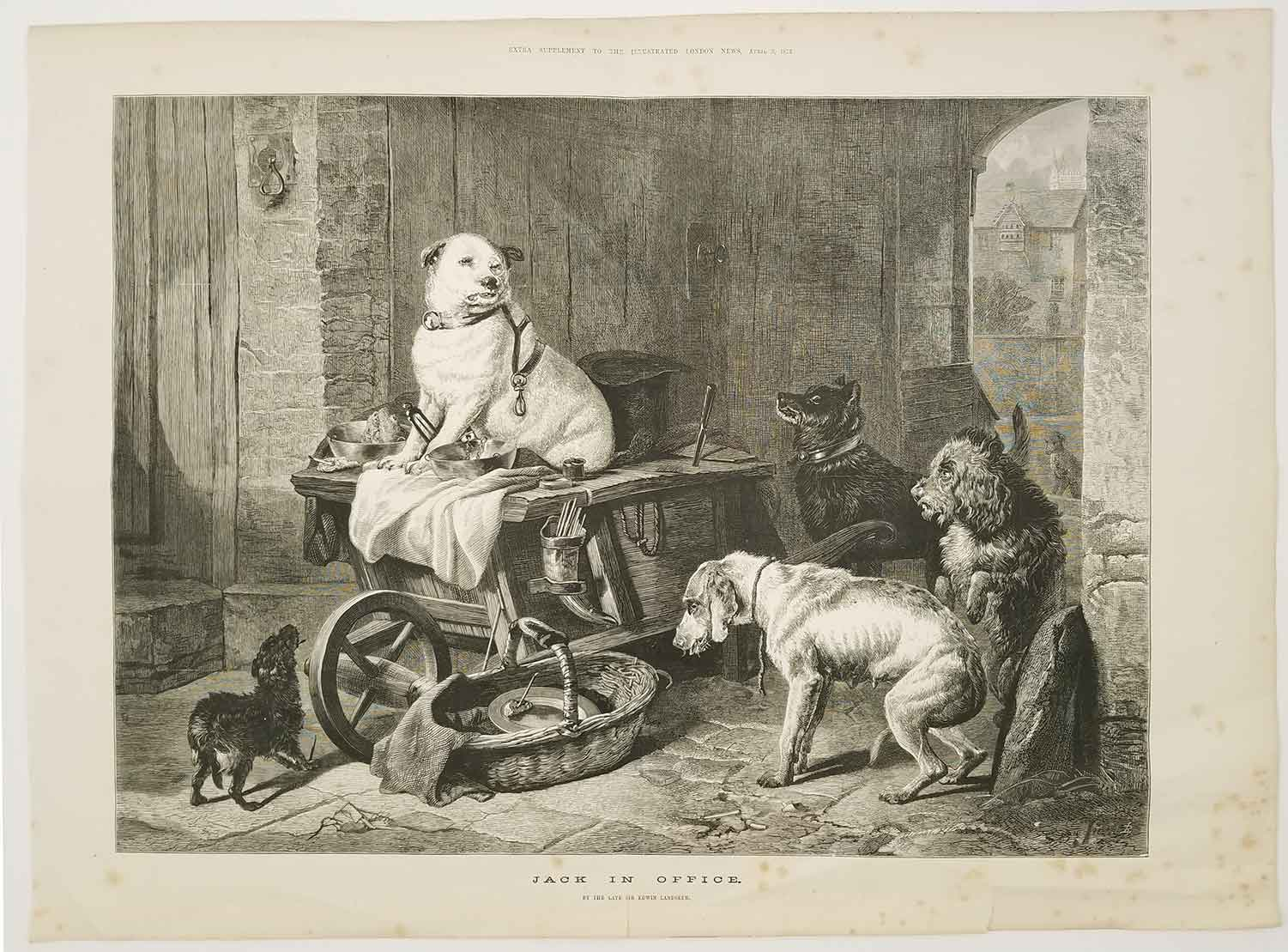 Jack in Office. LANDSEER) Landseer, Edwin, R. A. (illus)