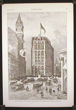 "The New Building of the New York """"Times."""" NEW YORK - NEW YORK CITY) Charles Graham (illus.)"
