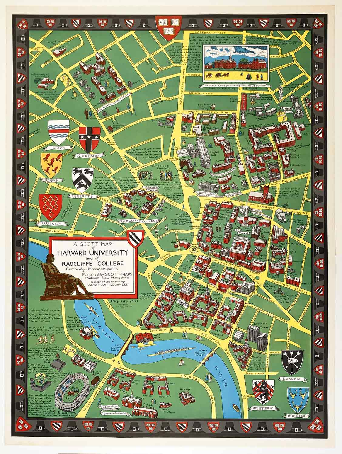 A ScottMap Of Harvard University And Of Radcliffe College - Map of harvard university