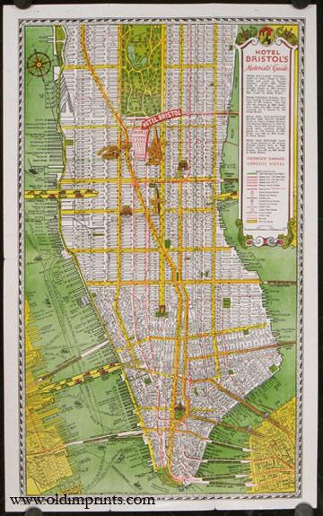 Map Of New York New York Hotel.Map Of New York Hotel Bristol Map Title