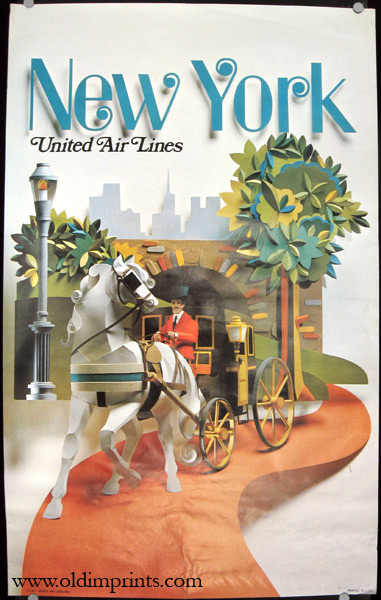 New York. United Air Lines. UNITED AIRLINES / NEW YORK)