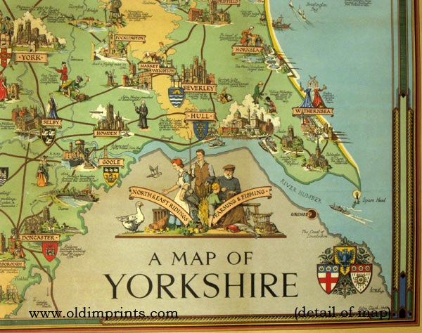 A Map Of Yorkshire By England Yorkshire Clark Estra British