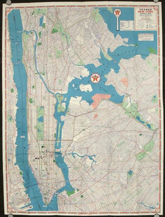 Texaco Touring Map. Metropolitan New York City. NEW YORK - NEW YORK CITY)