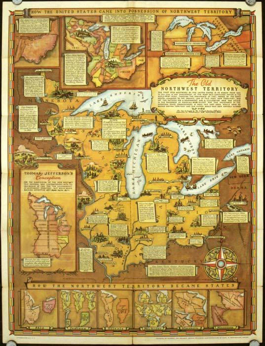 Historical Map of the Old Northwest Territory. (Map title: The Old ...