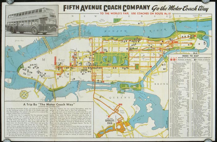 See New York - The Motor Coach Way. Fifth Avenue Coach Routes and Visitor's Guide. NEW YORK - NEW YORK CITY)