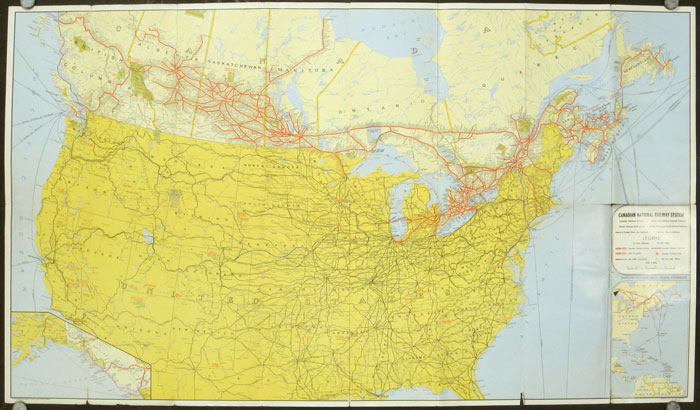 Canadian National Railways Tourist\'s Map of ...