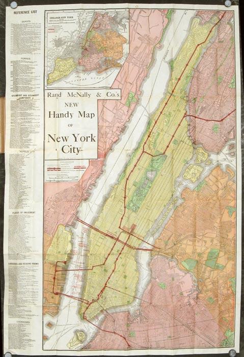 Rand McNally & Co.'s New Handy Map of New York City. NEW YORK - NEW YORK CITY)