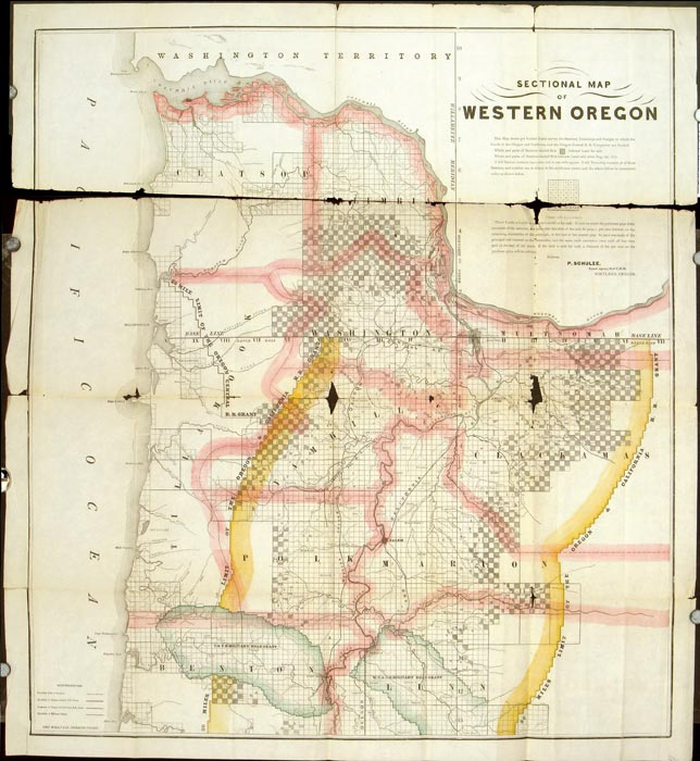 Sectional Map of Western Oregon.