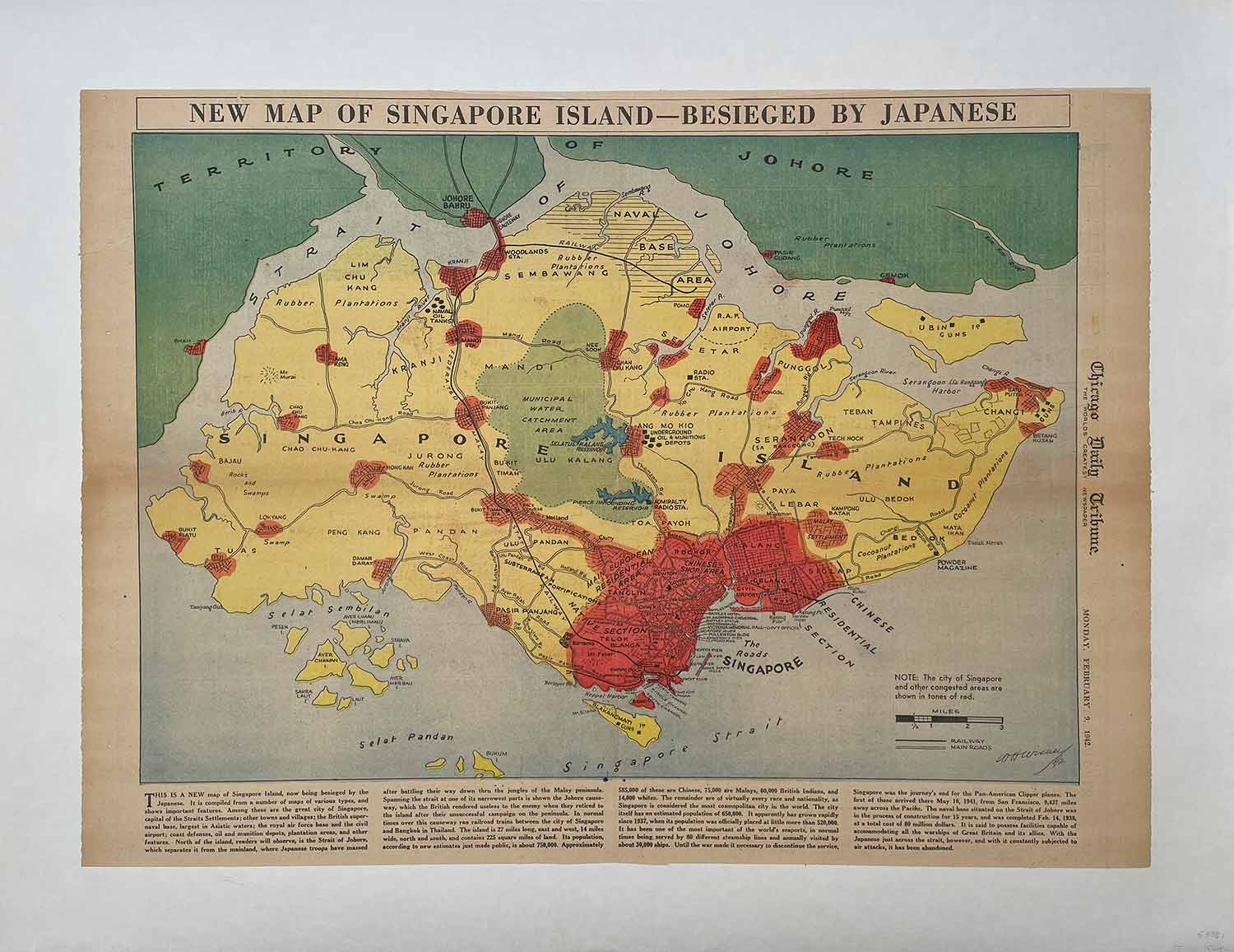 New map of singapore island besieged by japanese chicago daily new map of singapore island besieged by japanese chicago daily tribune monday gumiabroncs Images