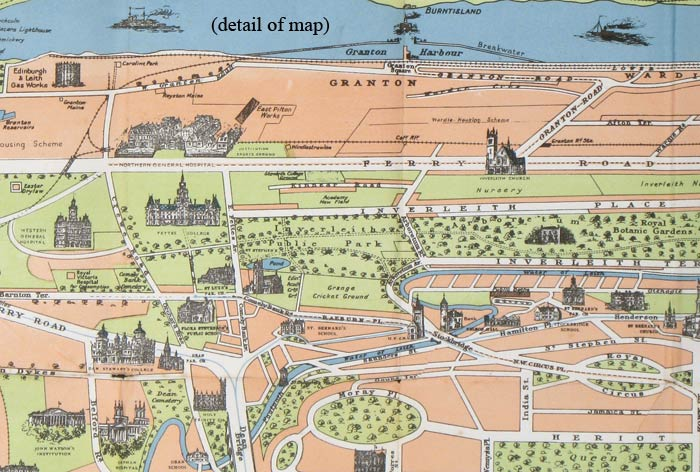 Pictorial Map of Edinburgh and Leith. by SCOTLAND - EDINBURGH): Geo ...