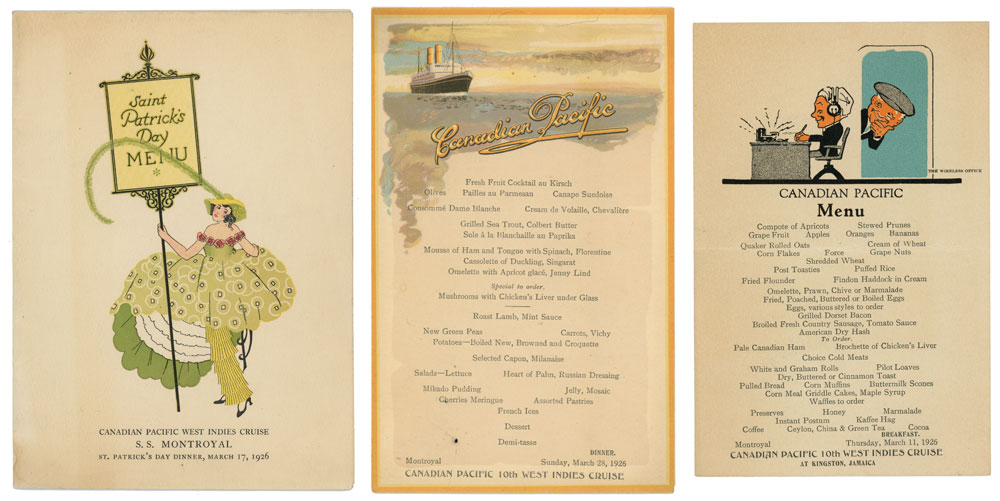 Canadian Pacific West Indies Cruise (Menus). CANADIAN PACIFIC / MENU)
