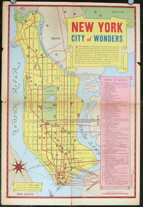New York City of Wonders. Sunday News. NEW YORK - NEW YORK CITY) Sundberg, Edwin L. (illus).