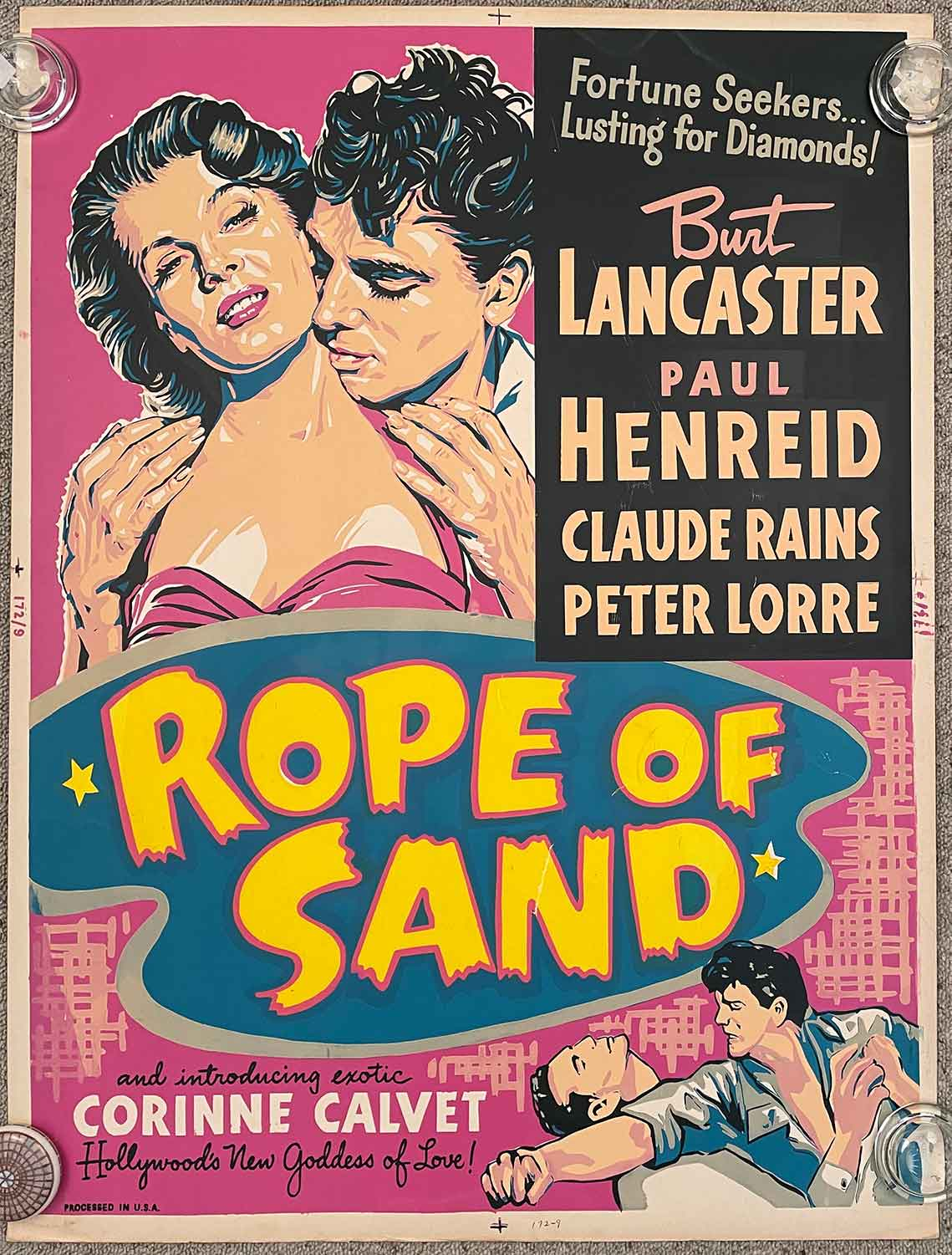 Rope of Sand. (Movie Poster) FILM NOIR)