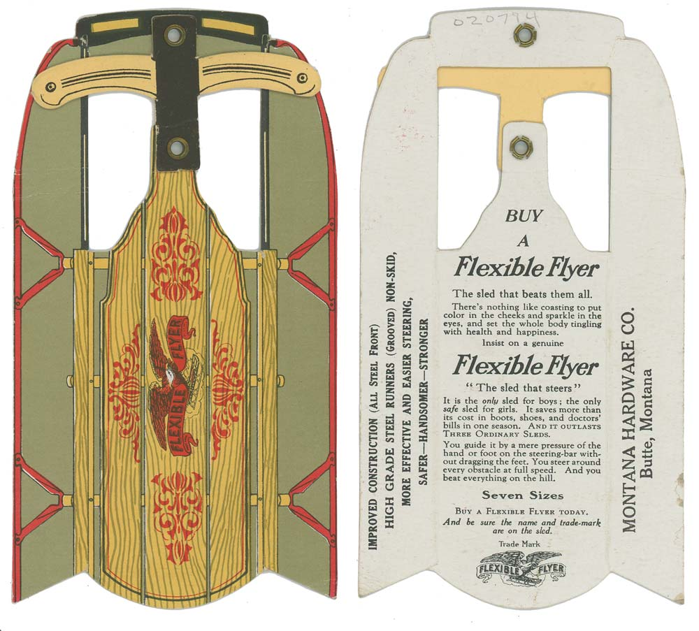sled ilab Buy a Flexible Flyer. by PAPER MODEL SLED): Montana Hardware Co ...