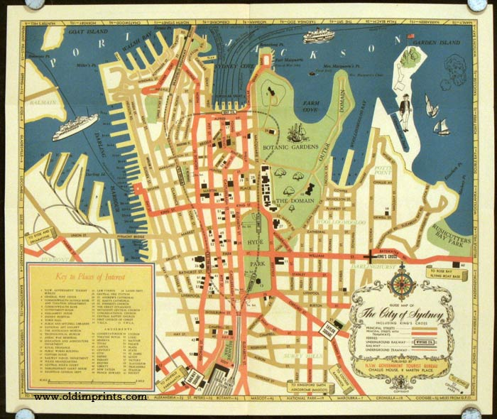 Sydney Tourist Map. Map title: Guide Map of The City of Sydney Including King';s Cross AUSTRALIA - SYDNEY) Softcover