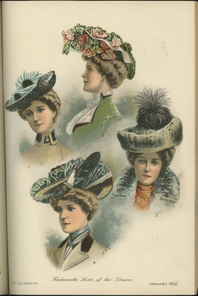 The Delineator. FASHION) Softcover Women's fashion magazine featuring 14 black and white fashion plates and four full color plates. Also included, two full-color fashion plates loose in