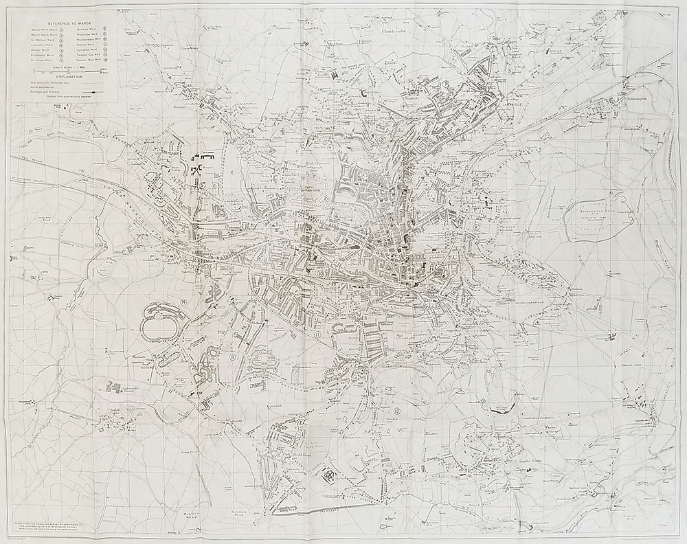 Map Of England Bath.Map Of Bath Showing Wards