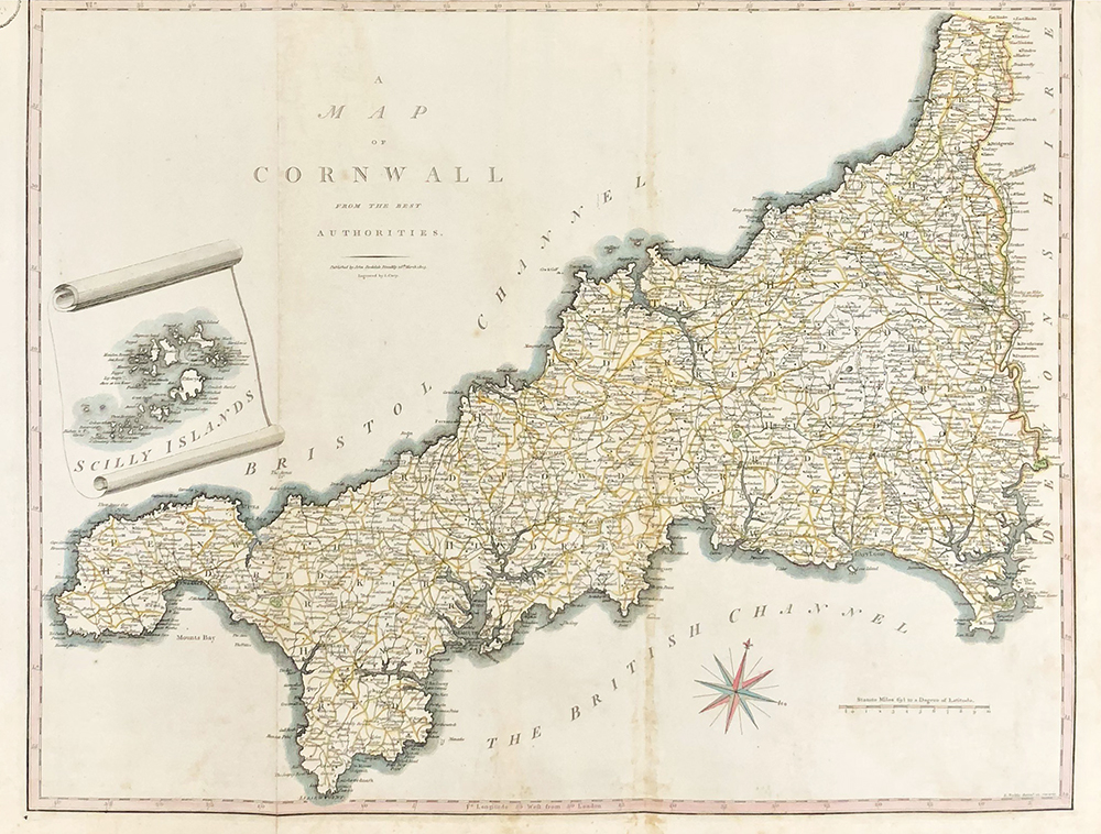 Map Of England Cornwall.A Map Of Cornwall From The Best Authorities
