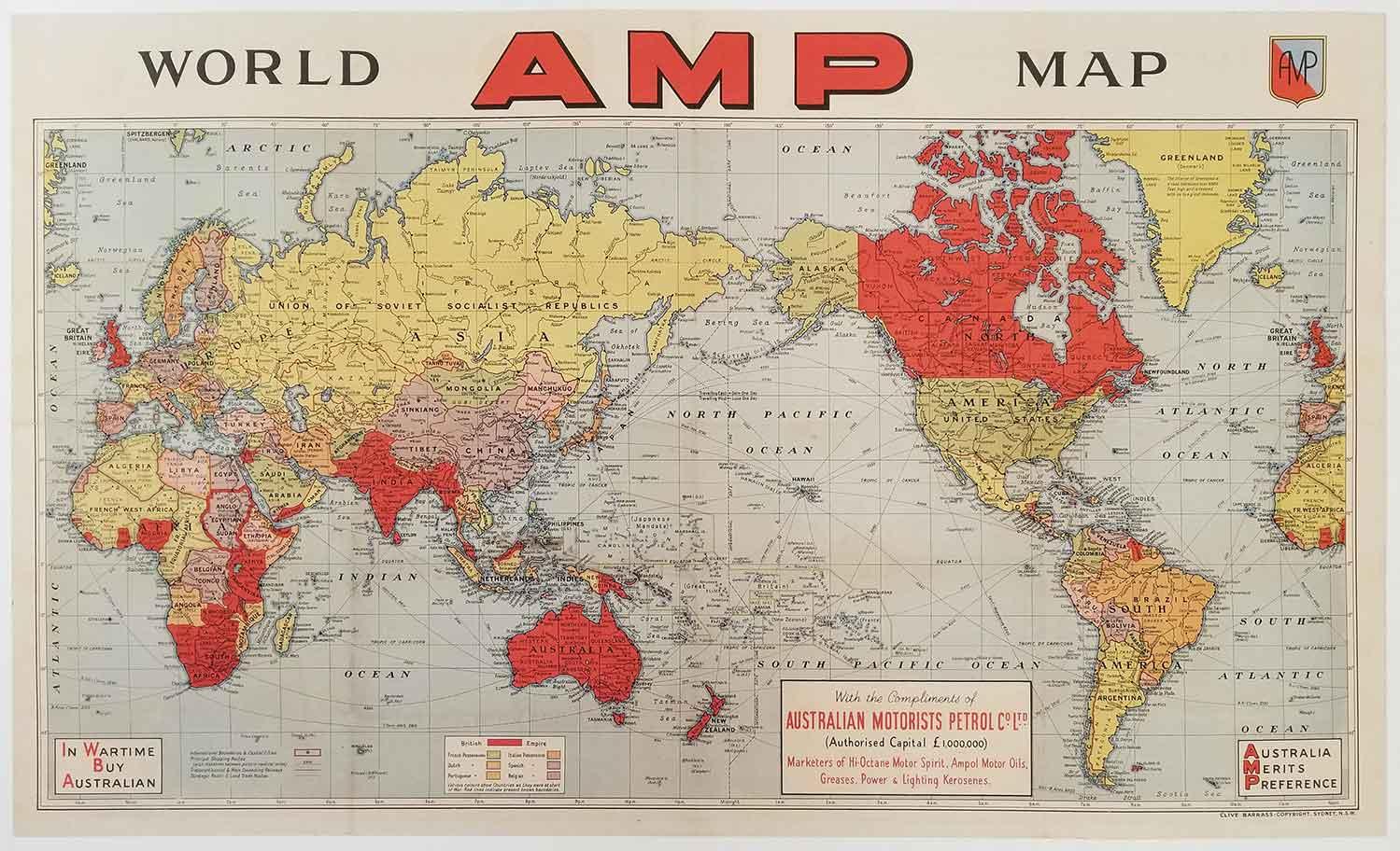 AMP World Map.