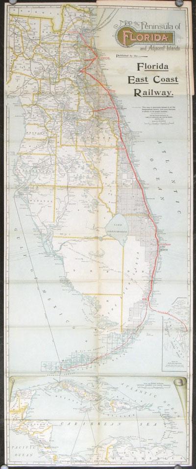 viaLibri ~ Map of the Peninsula of Florida and Adjacent ...