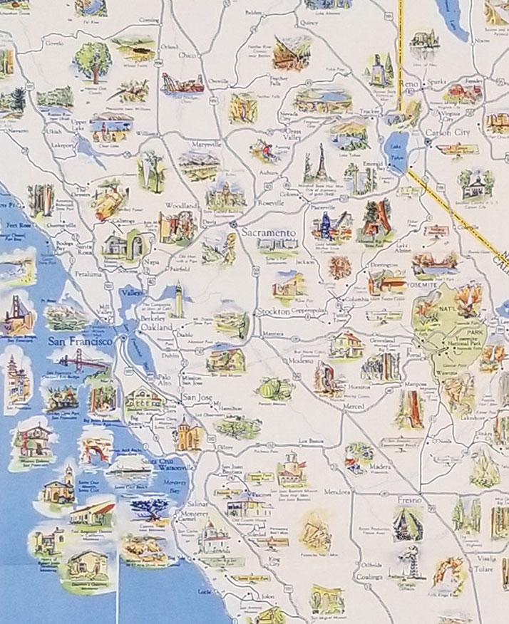 Pictorial Map. California Nevada. (Cover ...