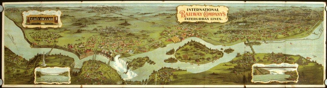 Niagara Falls and Buffalo International Railway Co's Interurban Lines.: NEW YORK - BUFFALO - ...