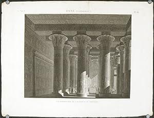 Esne (Latopolis.) Vue Perspective de l'Interieur du: ESNE) Jollois et