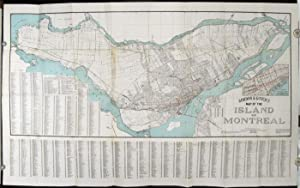 Map of the Island of Montreal. Showing in Detail Westmount, Notre Dame de Grace, Montreal West, V...