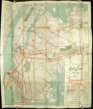 Realty Trust Map of Brooklyn and Queens Boroughs Greater New York. 1905. Map title: Realty Trust ...