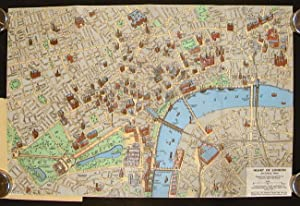 Heart of London. A Coloured Picture Map: ENGLAND - LONDON)
