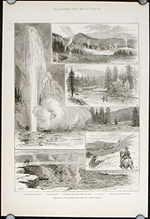 Sketches in the Yellowstone Park of North America.