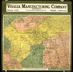 Visalia Manufacturing Company. Map of Part of: CALIFORNIA - FRESNO