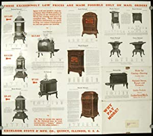 Real Values in National Stoves, Ranges and Furnaces at Bargain Prices. Excelsior Stove & Mfg. Co....