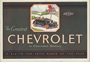 The Greatest Chevrolet in Chevrolet History. A Six in the Price Range of the Four.