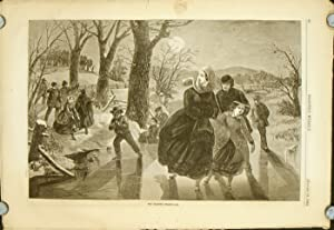 The Skating Season 1862. IN COMPLETE ISSUE OF HARPER'S WEEKLY, January 18, 1862.