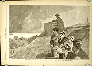 The Battle of Bunker Hill - Watching the Fight From Copps Hill, In Boston.