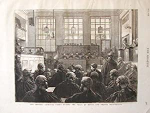 The Central Criminal Court During the Trial of Henry and Thomas Wainwright.