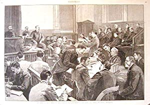 The Trial of Jacob Sharp in the Court of Oyer and Terminer, New York City.