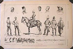 Sketches of the Canadian Mounted Police.