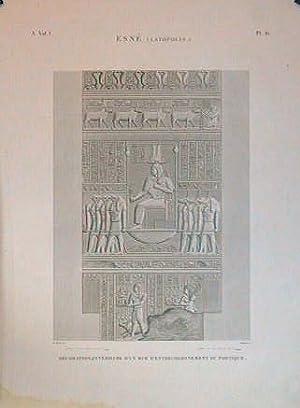 Esne (Latopolis.) Decoration Interieure d'un Mur d'Entrecolonnement: ESNE) H.J. Redoute