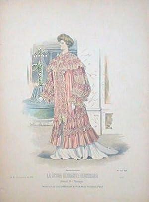 Hand color lithograph from La Moda Elegante: 1900s FASHION)