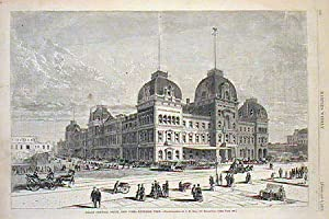 Grand Central Depot, New York - Exterior View / Grand Central Depot, New York - Interior View.