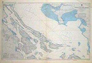 Lot of TWO coastal charts of British Columbia . #2570 Moresby Passage to Gabriola Pass. Southern ...