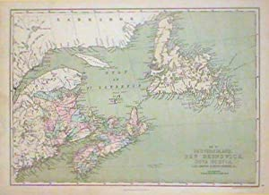 Map of Newfoundland, New Brunswick, Nova Scotia, Cape Breton & Prince Edward Is.