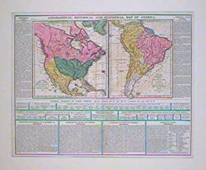 Geographical, Historical, and Statistical Map of America.
